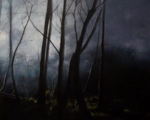 Contemporary Painting - Edge of Day by Ashley Wiltshire Spotswood