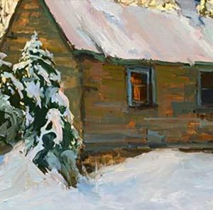 Little Cabin by Lori Putnam - Contemporary Painting