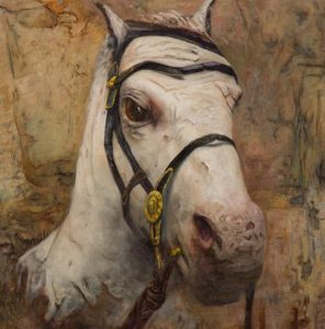 Contemporary Painting Unearthed Steed by Maggie Rose