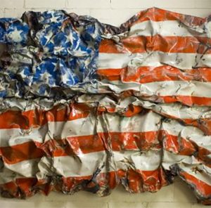 Flag - Contemporary Sculpture by Ben Caldwell at LeQuire Gallery