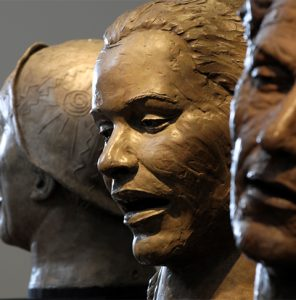 Bessie Smith, Billie Holiday, Woody Guthrie - Clinton Foundation - Contemporary Sculpture by Alan LeQuire