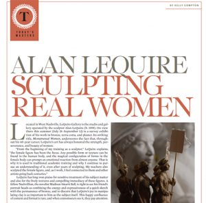 FineArtConnoisseur.com- Alan LeQuire Sculpting Real Women by Kelly Compton