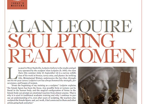 FineArtConnoisseur.com: Alan LeQuire Sculpting Real Women by Kelly Compton